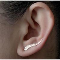 Wholesale crosses earings for sale - Group buy Aretes Real Earings Direct Selling Hot Sale Brinco Tassel Earrings Europe And The Style Metal Leaves Ear Clip Cross border
