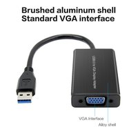 Wholesale external video card adapter resale online - USB to VGA Adapter USB External Video Card Most Compatible Resolution USB to Display for Windows Mac