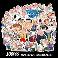 juguetes para chicos al por mayor-100 Unids / lote Family Guy Doodle Etiqueta Animal Etiqueta Engomada Monopatín Motocicleta Etiqueta Engomada Pegatinas de Dibujos Animados Pegatinas Niños juguetes