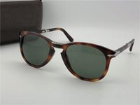 Wholesale folding sunglasses resale online - luxury sunglasses mens glasses mens designer sunglasses designer sun glasses classic retro pilot folding frame with leather case