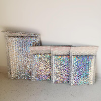 Wholesale foil gift bag for sale - Group buy 50PCS Pack Laser Silver Packaging Shipping Bubble Mailer Laser Foil Plastic Padded Envelope Gift Bag Mailing Envelope Bag