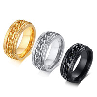 Wholesale american tire resale online - Vnox Stylish Men Spinner Bike Chain Rings mm Stainless Steel Tire Texture anillo anel masculino Gifts for Him