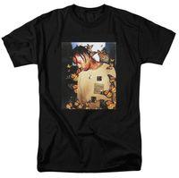 m albüm toptan satış-Travis Scott Kelebek T Shirt Etkisi Rap Müzik Albüm Kapağı erkekler ve kadınlar Astroworld Yüz malzeme üst T-shirt