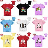Wholesale cotton baby clothes wholesale online - Baby Clothes Apex Legends T shirts Summer Tops D Print Shirts Cartoon Casual Tees Short Sleeve Sports Kids Clothes MMA1590