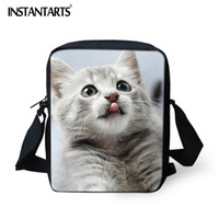 Wholesale custom messenger bags resale online - INSTANTARTS Crossbody Bag for Women D Animal Cat Printing Custom Design Messenger Bags Small Flap Shoulder Bag Handbags