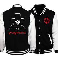 хорошие бренды пальто оптовых-Baseball Jacket Men V вендетта Куртки весенние Brands я клятвенно заверяю, что I Am Up To No Good Coat Sportwear S-5XL