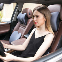 Wholesale accessories for travel resale online - Car Headrest Travel Neck Pillow Memory Foam Seat Cushions Back Support Head Restraint Sleep Pillow for Accessories Car
