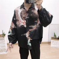 мужская футболка dhl оптовых-10 Шт.лот DHL бесплатная доставка Мужчин Модный дизайнер рубашки Медуза Slim Fit Мода Harajuku Повседневная 3D печать Рубашки