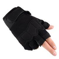 taktik eldivenler toptan satış-Yarım Parmak Taktik Eldiven Avcılık Assault Combat Taktik Eldiven