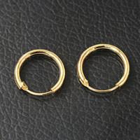 ingrosso anello coreano di anelli di oro-0291 Tipo coreano Ear Ring Orecchini Orecchini Couple Copper Materiale Uomo Donna Oro Piccolo 1135 Diametro interno 10mm291