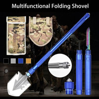 Wholesale multifunctional outdoor shovel resale online - Multifunctional Tactical Folding Shovel Outdoor Camping Portable Survival Emergency Hand Tools Set