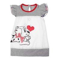 vêtements chien mignon filles achat en gros de-Robes de fille belle patchwork caractère enfants robes de filles chien mignon enfants vêtements bébé enfants robe une ligne robe de fille