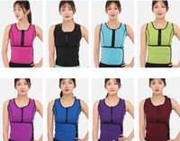 Wholesale sports waist cinchers online - Body Shaper Sauna Belt Waist Vest Sweat Adjustable Neopren Trainer Sport Zipper Underbust Workout Shapewear IIA169