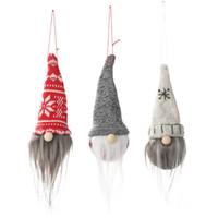 ingrosso vecchi cappelli da uomo-Nuove decorazioni natalizie Cappello a punta a sfera Senza volto Pendente per bambola Creativo Vecchio uomo Bambola Piccolo fascino
