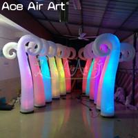 aufblasbares dekorationlicht für partei groihandel-Gute Party Dekoration schön gerade Beleuchtung aufblasbare Schafe Horn für Dekorationen sind mit Luftgebläse