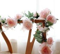 поддельный цветок лист оптовых-1 .7m искусственного шелка роза Ivy Vine Leaf Garland Свадьбы Главной Декор декоративного цветок Гирлянда Поддельный завод