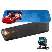 enregistrement dans le rétroviseur de la caméra achat en gros de-4,3 pouces voiture 1080p hd dvr caméra rétroviseur double enregistrement double voiture enregistreur de conduite dvr