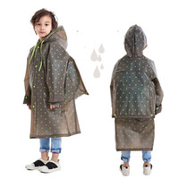 veste en plastique achat en gros de-Veste de pluie en plastique pour enfants à l'extérieur avec capuche imperméable Maternelle Garçons Enfants Imperméable Poncho Sac de pluie