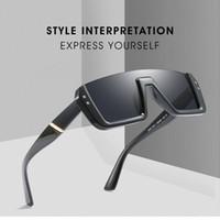 Wholesale personalized sunglasses for sale - Group buy 8 Colors Personalized Half Frame Sunglasses Trendy Unisex Sunglasses Fashion Square Sunglasses Outdoor Eyewear Kids Sunblock CCA11719