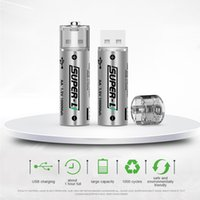 baterias de lítio aa venda por atacado-Novo Grande capacidade universal de saída de alta velocidade de tensão constante Segurança AA No. 5 cabeça magnética USB bateria de lítio recarregável