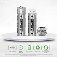 aa şarj edilebilir piller usb toptan satış-Yeni Büyük kapasiteli evrensel sabit voltaj yüksek hızlı çıkış Emniyet AA No. 5 manyetik kafa USB şarj edilebilir lityum pil