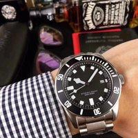 melhor relógio de pulso automático venda por atacado-O último relógio de luxo de aço inoxidável 42 milímetros preto (azul, verde) mostrador relógio mecânico automático esportes relógio de pulso melhor presente.