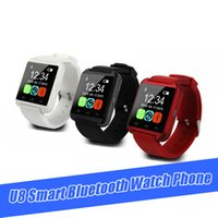 Wholesale chip tracker for sale - Group buy U8 Bracelet Smartwatch MTK chip Wrist Watches Touch Screen For iPhone Samsung Note Android Heart Rate Bluetooth Watch Phone Fitness Tracker