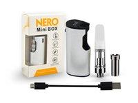ingrosso mini cartucce atomizzatrici elettroniche-Nero Mini Box Kit Costruito in 650mAh Vape Battery con C Atomizer Temperature Control Vape cartucce di sigarette elettroniche