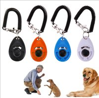 Wholesale small plastic chain for sale - Group buy Pet Bark Clicker Deterrents Trainer Pet Dog Puppy Training Adjustable Sound Wrist Key Chain Universal Dog Training Clicker AAA1558