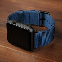 Wholesale blue yellow apple watch strap for sale - Group buy Strap For Apple watch band mm mm iWatch band mm mm Sports Nylon bracelet watch strap Apple watch mm