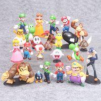 kong esel großhandel-22pcs / Set 3-7cm Super Mario Bros PVC Action-Figuren Spielzeug Yoshi Peach Princess Luigi Shy Guy Odyssey Donkey Kong Modell Dolls L182