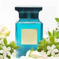 frascos de perfume azul al por mayor-ALTA CALIDAD Más nuevo diseño Atractivo perfume azul botella 100 ml perfume agradable olor muy largo tiempo aerosol envío gratis.