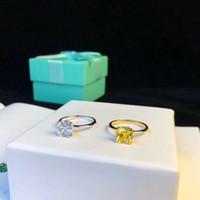 anel de faixa de ouro vermelho rubi venda por atacado-Top qualidade paris mulheres anel de design com branco e amarelo diamante decorar selo logotipo encanto em 6-8 # EUA tamanho mulheres jóias PS6469