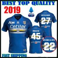 up uniformen großhandel-2019 Parma Calcio 1913 Fußball Trikots 18 19 GERVINHO INGLESE BRUNO ALVES Sampdoria Parma Twinning Mash-Up Fußball Uniform Top Thailand