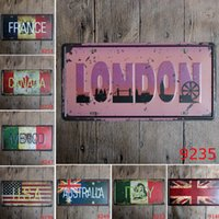 Wholesale italy home decor for sale - Group buy USA ITALY FRANCE Others Country Retro Metal Tin Signs Car Number License Plate Plaque Poster For Cafe Bar Pub Home Decor