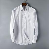 2018 New Free shipping real photos Hot fashion longsleeve high cottom men casual shirt size m-3xl