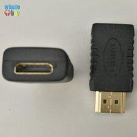 mini conectores de cable al por mayor-Mini HDMI hembra a HDMI macho adaptador convertidor chapado en oro Cable conector para HDTV 1080P Xbox 360 200pcs / lot