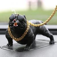 ingrosso bambole di cane-Fashion Car Dog Decoration Personalità creativa Luxury Funny Car Interior Simulazione Dog Doll Accessori per interni Ornamenti