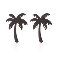 b05cec0eb79c 2019 Recién Llegado de Las Mujeres Simples Pendientes de Coco Palmera  Vacaciones de Verano Pendiente Regalo de la Joyería Pendientes de Playa  Linda aretes ...