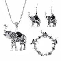 conjunto de colar boêmio venda por atacado-muito Jóias Elephant Set Para Mulheres Retro Bohemian chique Jóias Set The Small Alloy Colar Brincos Conjunto de Jóias Animais Collar