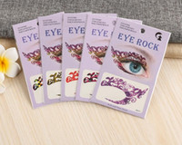Wholesale eye rock tattoos for sale - Group buy 100pcs fashion Crazy Temporary Tattoo Stickers girls party Instant Eye Shadow Sticker Colourful Eye rock X129