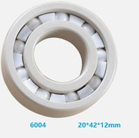 ingrosso cuscinetti a sfere-6pcs / 10pcs 6004 ZrO2 pieno 20x42x12mm cuscinetto ceramica Zirconia Oxide cuscinetti radiali a sfere di ceramica 20 * 42 * 12mm
