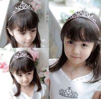 menina princesa coroa headband venda por atacado-Faixa de cabelo Kid Girl Bridal Princess Prom Crown Headband COOL