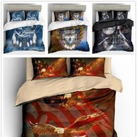 Wholesale wolf bedding sets full for sale - Group buy 3D Print Animals Bedding Set Twin Full Queen Size for boys adult Bed cover set Wolf blue bed set new