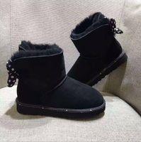 bottes de neige pour enfants de marque achat en gros de-2019 bottes de neige chaud d'hiver nouvelles filles d'hiver pour enfants Australie Bow bottines bow-noeud Australie marque bottes taille 25-34