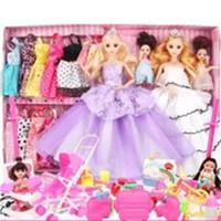 juego de accesorios de muñeca al por mayor-Fashionista Ultimate Dressup Dolls Set Caja de regalo Juguete de moda Princesa Conjuntos Muñecas Accesorios para niñas DIY