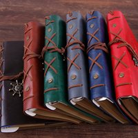 Wholesale leather diary gift resale online - fashion Japanese and Korean diary books creative stationery retro Pirate notepads travel diary loose leaf notebook Hand account T2I5423