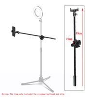 Wholesale boom clamp for sale - Group buy Photography cm quot Boom Arm Wheel Clamp Ball Head Cell Phone Holder Clip High Quality Crossbar Photo Studio Accessories