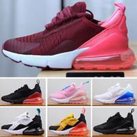 negro deportes zapatos para caminar mujeres al por mayor-Nike air max 270 27C Barato Athletic 27O Trainer Hombres Air Rainbow Nuevos diseñadores Zapatillas de deporte Hombre Caminando Deportes 27 Negro Blanco 27 2018 Mujeres Zapatillas
