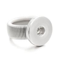 anel ajustável de 18mm venda por atacado-Hot ajustável Metal Intercambiáveis Xinnver anéis de pressão na moda flexível fit 18 MM botões de pressão DIY montagem atacado ZH009